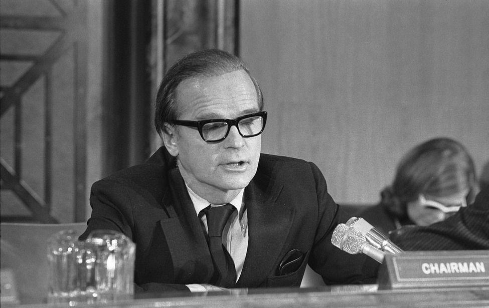 Early Days: Alan Greenspan testifies before House Senate Economic Committee in 1975.