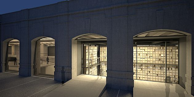 Open Secret : An artist?s rendering of a night view of the planned Holocaust memorial in Milan.
