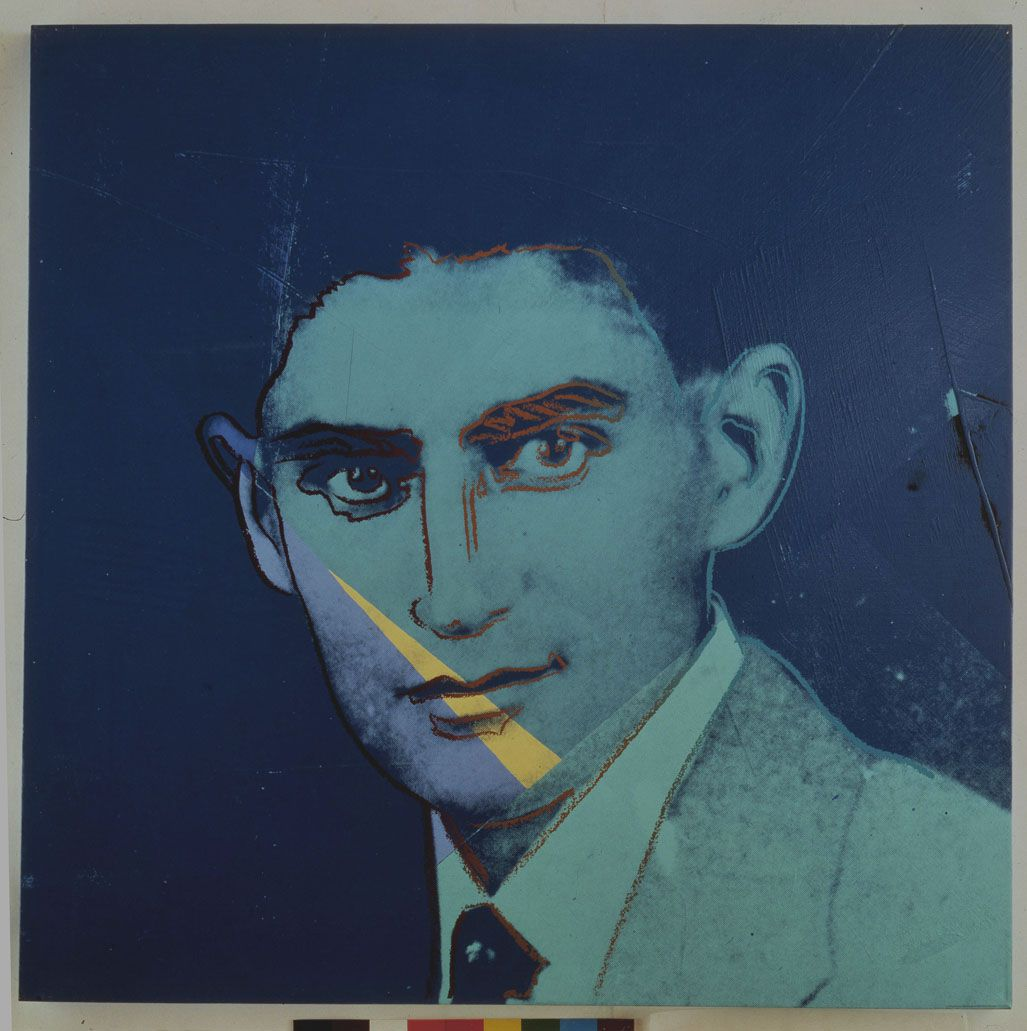 Andy Warhol (American, 1928?1987), Franz Kafka from Ten Portraits of Jews of the Twentieth Century, 1980, synthetic polymer paint and silkscreen ink on canvas. Private collection. © The Andy Warhol Foundation for the Visual Arts, Inc./Artists Rights Society, New York/Courtesy Ronald Feldman Fine Arts, New York.
