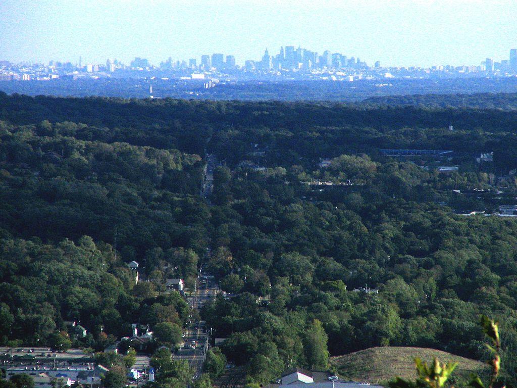 A bird's-eye view of Mahwah, New Jersey.