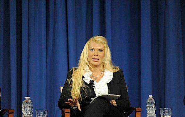 Madam Governor? Kristin Davis, gubernatorial candidate and former madam, at the recent debate.