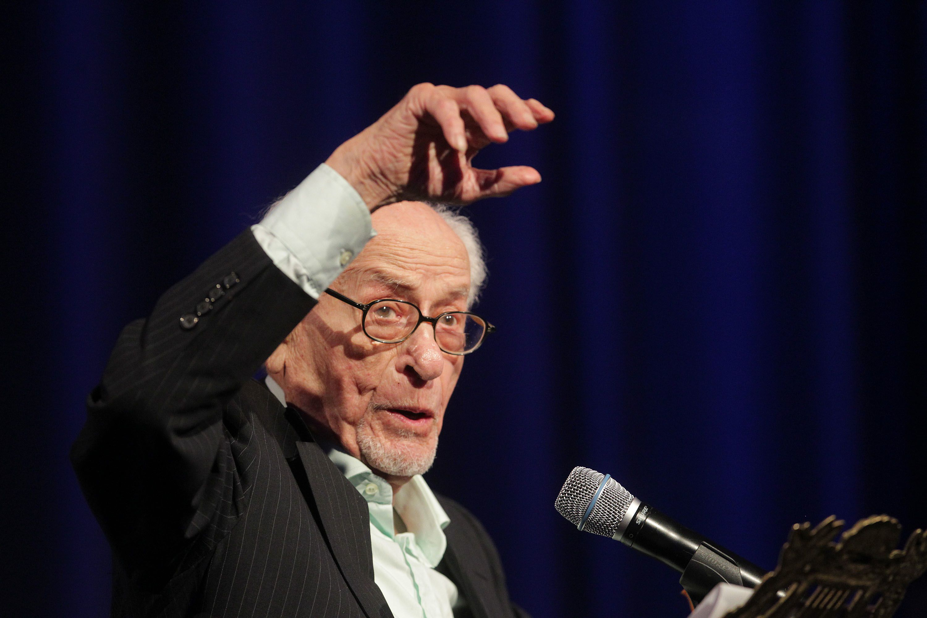 The Magnificent One: Eli Wallach speaks at a 2010 Holocaust Museum gala honoring Clint Eastwood.