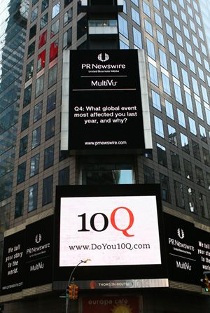 Do You?: The 10Q Project in New York?s Times Square poses questions to ponder.