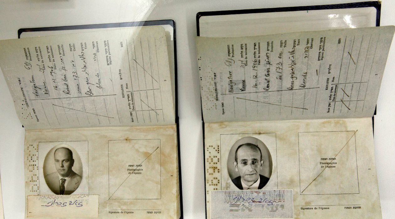 The Banality of Identification: Fake passports, one used by an Israeli Mossad agent (L) and another one manufactured to fly Adolf Eichmann (R) out of Argentina.