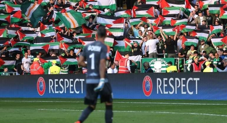 Celtic face UEFA sanction over flags