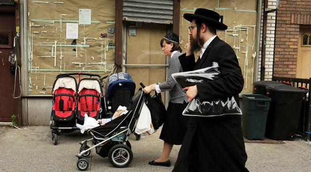 A Father?s Burden: The ultra-Orthodox population in Brooklyn has skyrocketed in recent years because of large families.