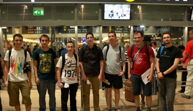 Calculators Ready: The Israeli team departing for the 2013 International Mathematics Olympiad in Colombia.