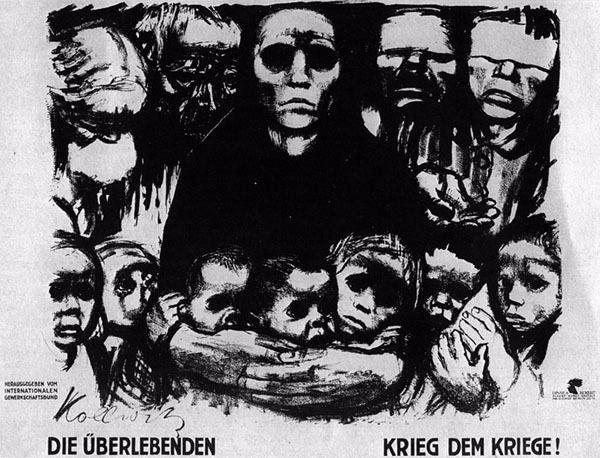An anti-war poster illustrated by Kathe Kollwitz