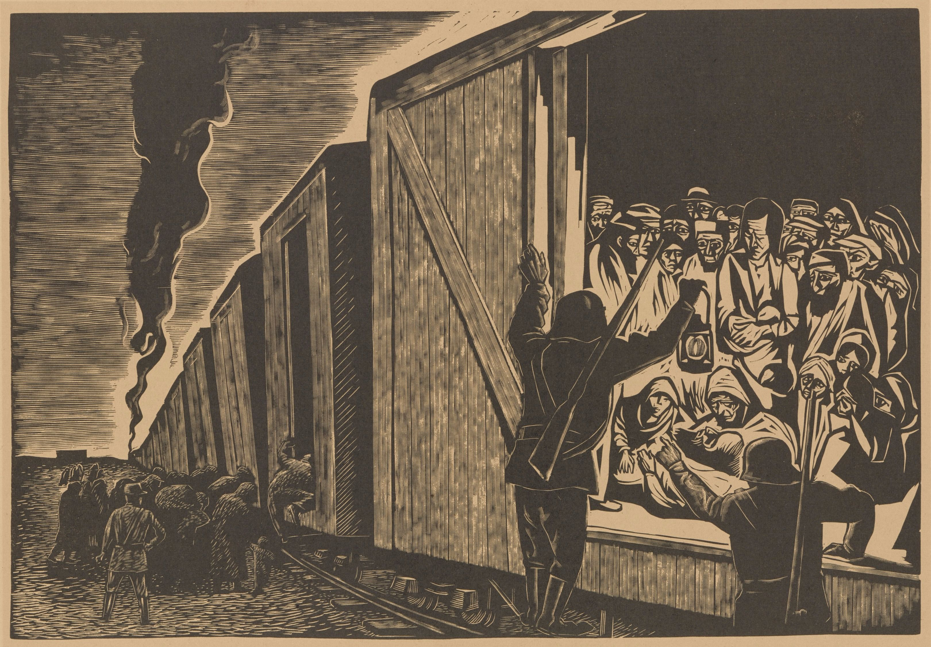 Deportation to Death, by Leopoldo Mendez