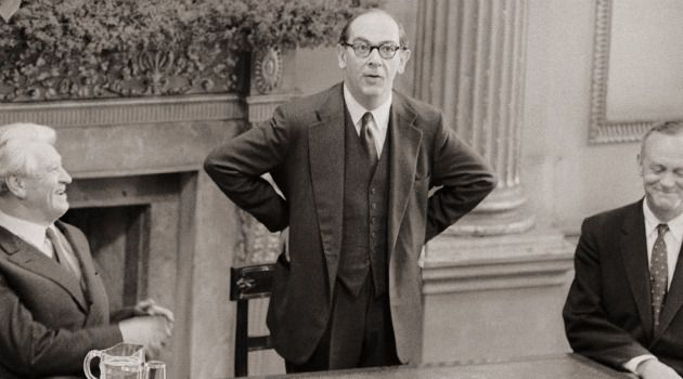 Was He A Fox Or A Hedgehog?:  Isaiah Berlin, seen here in 1959, debates the finer points of human behavior.
