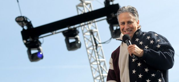 On Stage: Jon Stewart?s rally on The Mall on October 30, two days before the election, drew a crowd that reflected his regular audience ? predominantly white, left-leaning and young. Many carried handmade satirical signs.