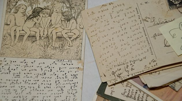 Rare Finds: Mizrachi discovered this correspondence between poet Jacob Fichman and his wife, Batsheva, while they were separated from each other during World War I.