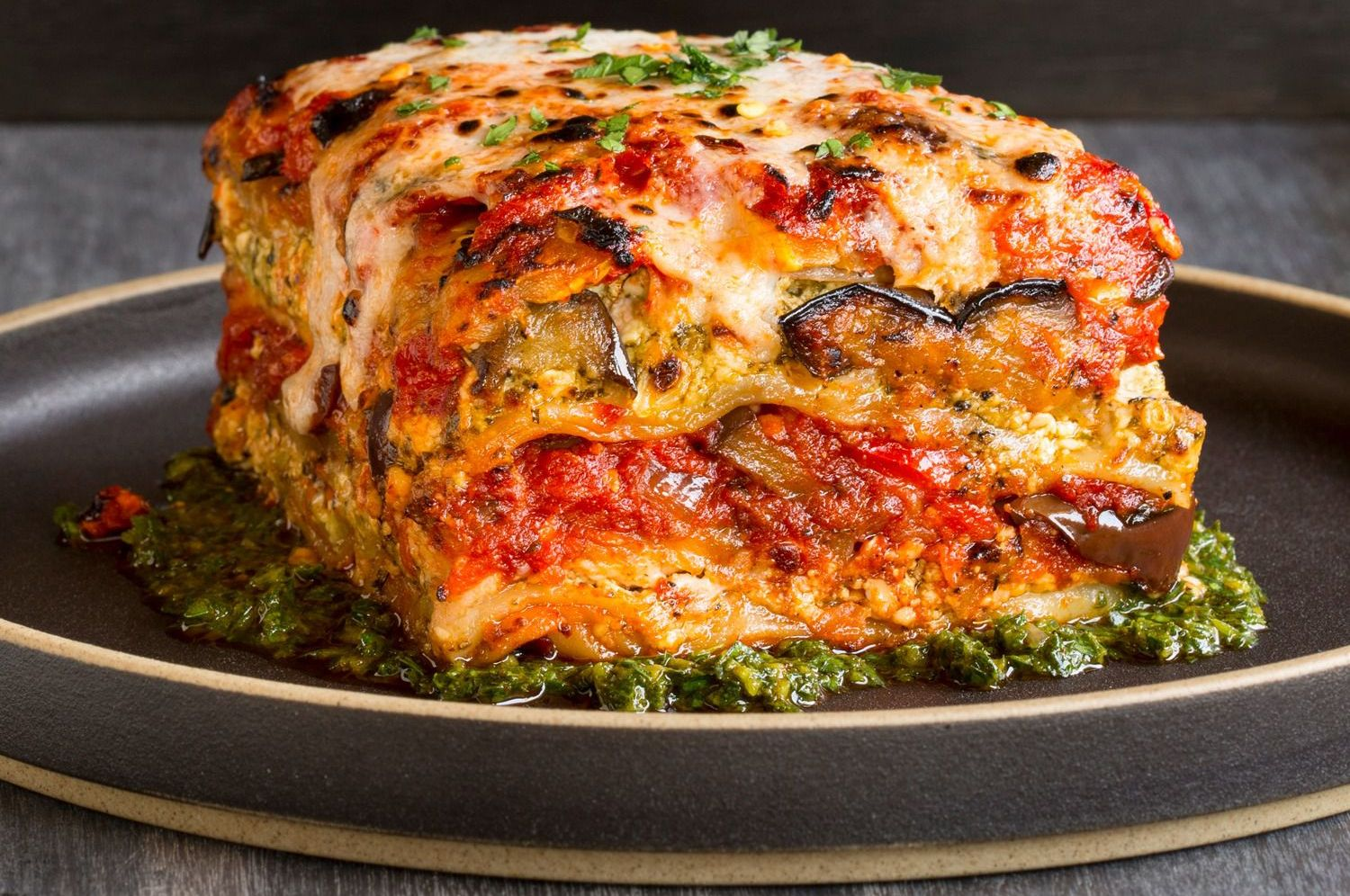 Vegan Grilled Garden Vegetable Lasagna With Puttanesca Sauce – The ...
