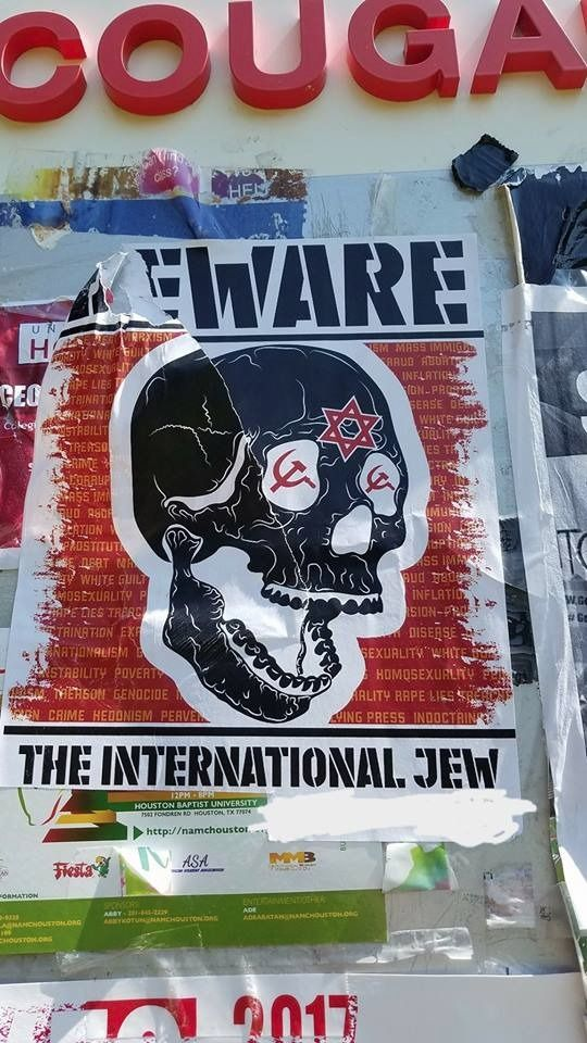 University of Houston Plastered With Anti-Semitic Posters