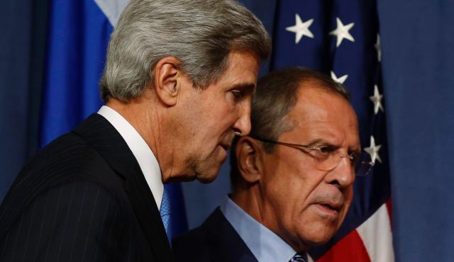 U.S. Secretary of State John Kerry and Russian Foreign Minister Sergei Lavrov met in Geneva to discuss a plan to disarm Syria?s nuclear arsenal.