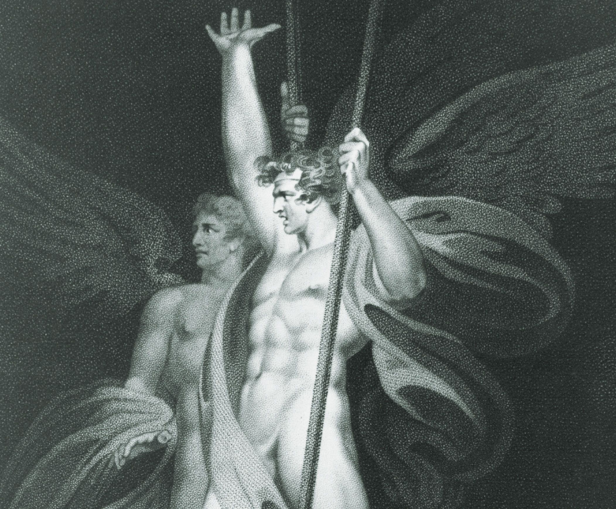 Satanic Duo: Satan and Beelzebub as illustrated in an 18th-century version of John Milton's 'Paradise Lost.'
