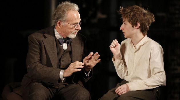 Ron Rifkin and Noah Robbins play two doomed writers in Nathan Englander?s play ?The Twenty-Seventh Man.?