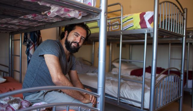 Chris Alami and his brother Bobo co-own the Hostel in Ramallah.