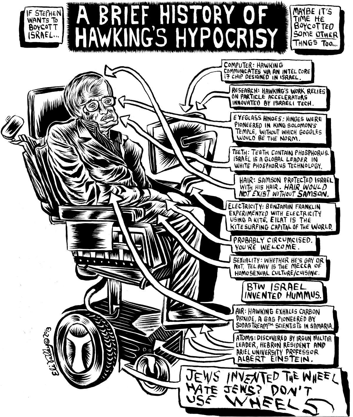 defending my stephen hawking cartoon – the forward