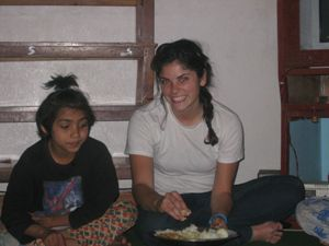 Dining locally in Swayambhunath, Nepal