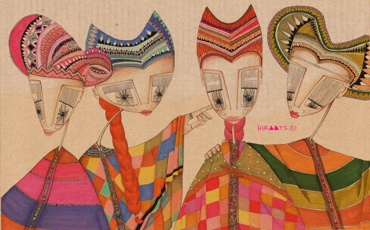 """Four Women"" by Hirut Yosef"