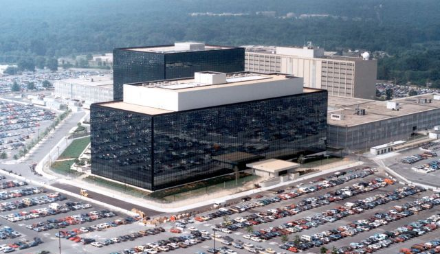 NSA headquarters building in Fort Meade, Maryland.