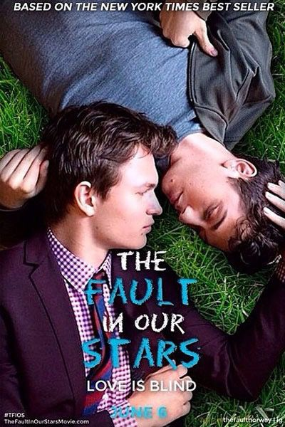 Natt Wolff and Ansel Elgort recreate the cover of The Fault in Our Stars.