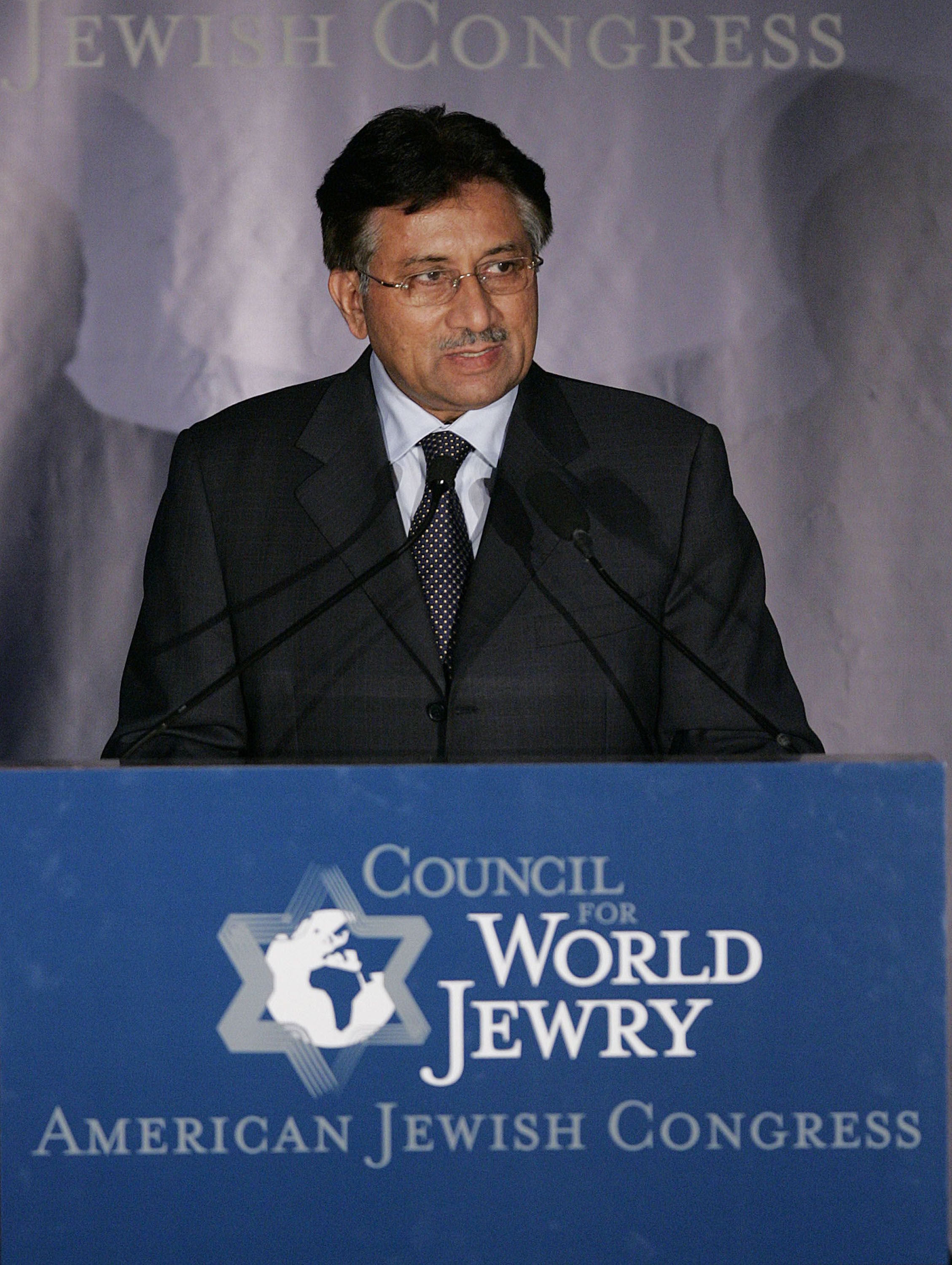 CLOSER THAN EVER: Former Pakistani president Pervez Musharraf addresses the Council for World Jewry in 2005, when Pakistani-Jewish relations were at their most promising.