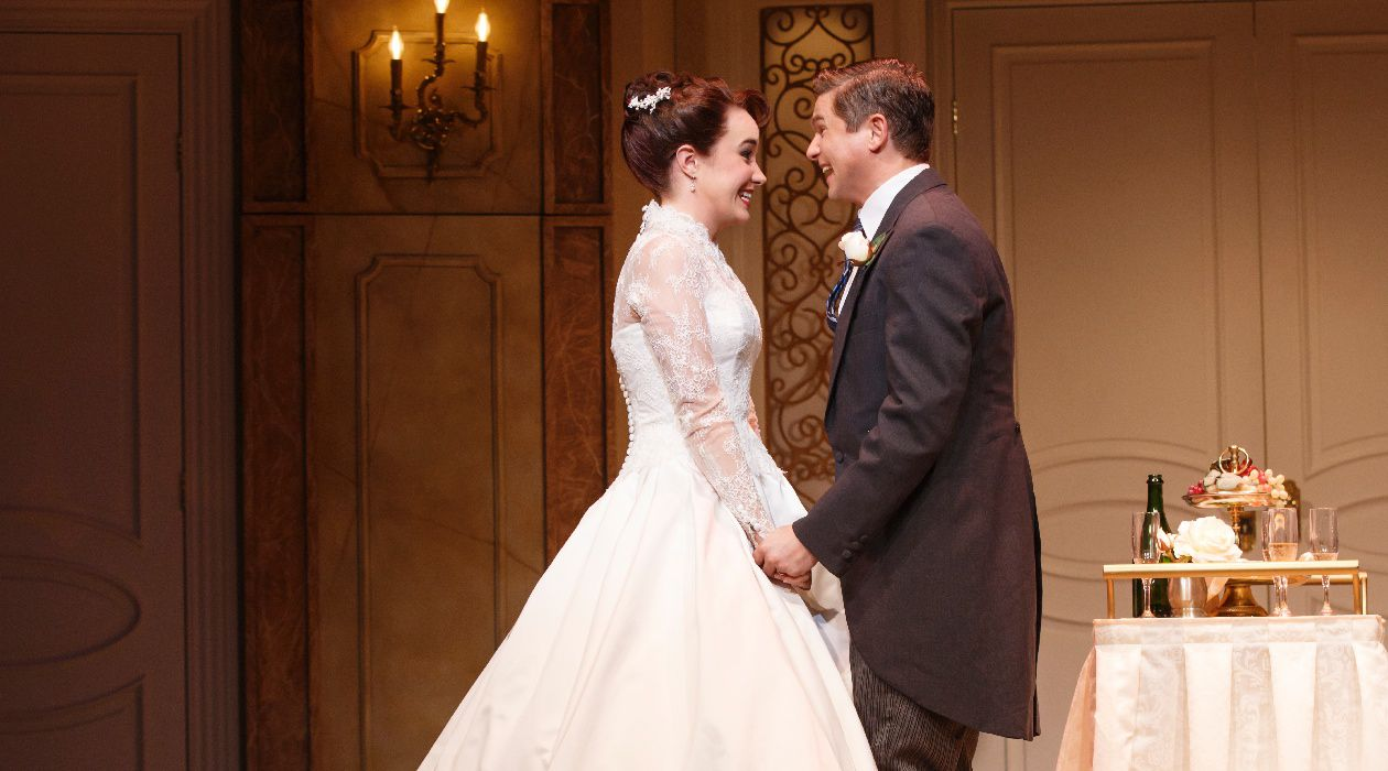 Shoulda Been There: Sierra Boggess and David Burka in the new musical, 'It Shoulda Been You.'