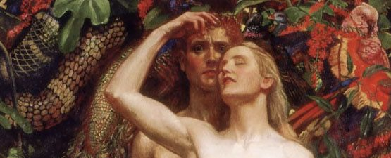 'The Woman, the Man, and the Serpent' by Byam Shaw
