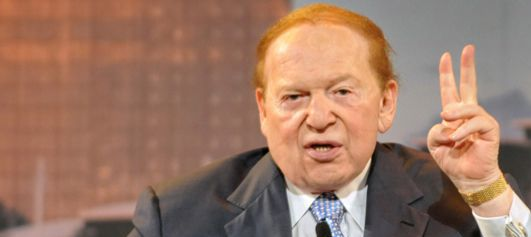 Sheldon Adelson finances Israel Hayom, the pro-Israeli government daily newspaper.