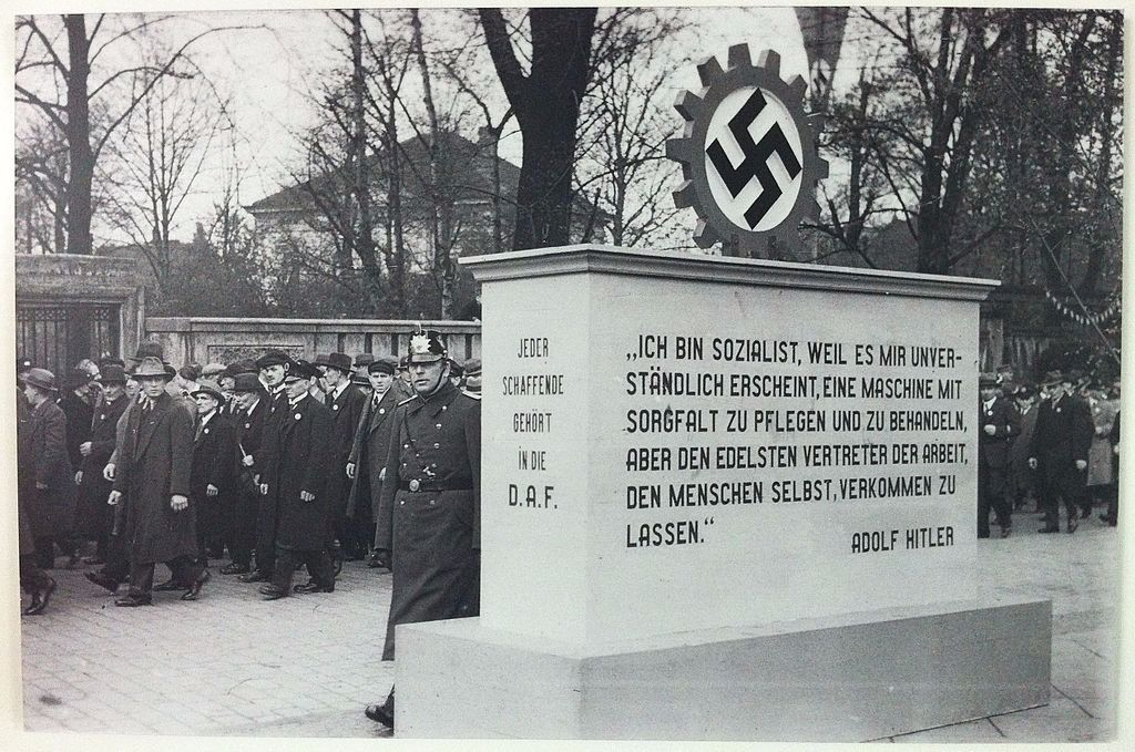 Monument for the German Labour Front, Deutsche Arbeitsfront (DAF), 1935.