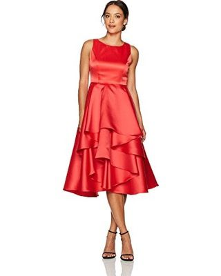 Adrianna Papell Women's Petite Fabric Combo Fit and Flare Dress, $50.74 - $61.89