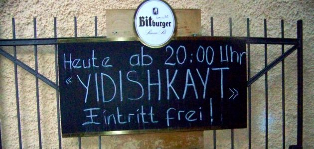Free entry!: Get it here, German beer and ?Yidishkayt? ? but only from 8 o?clock.