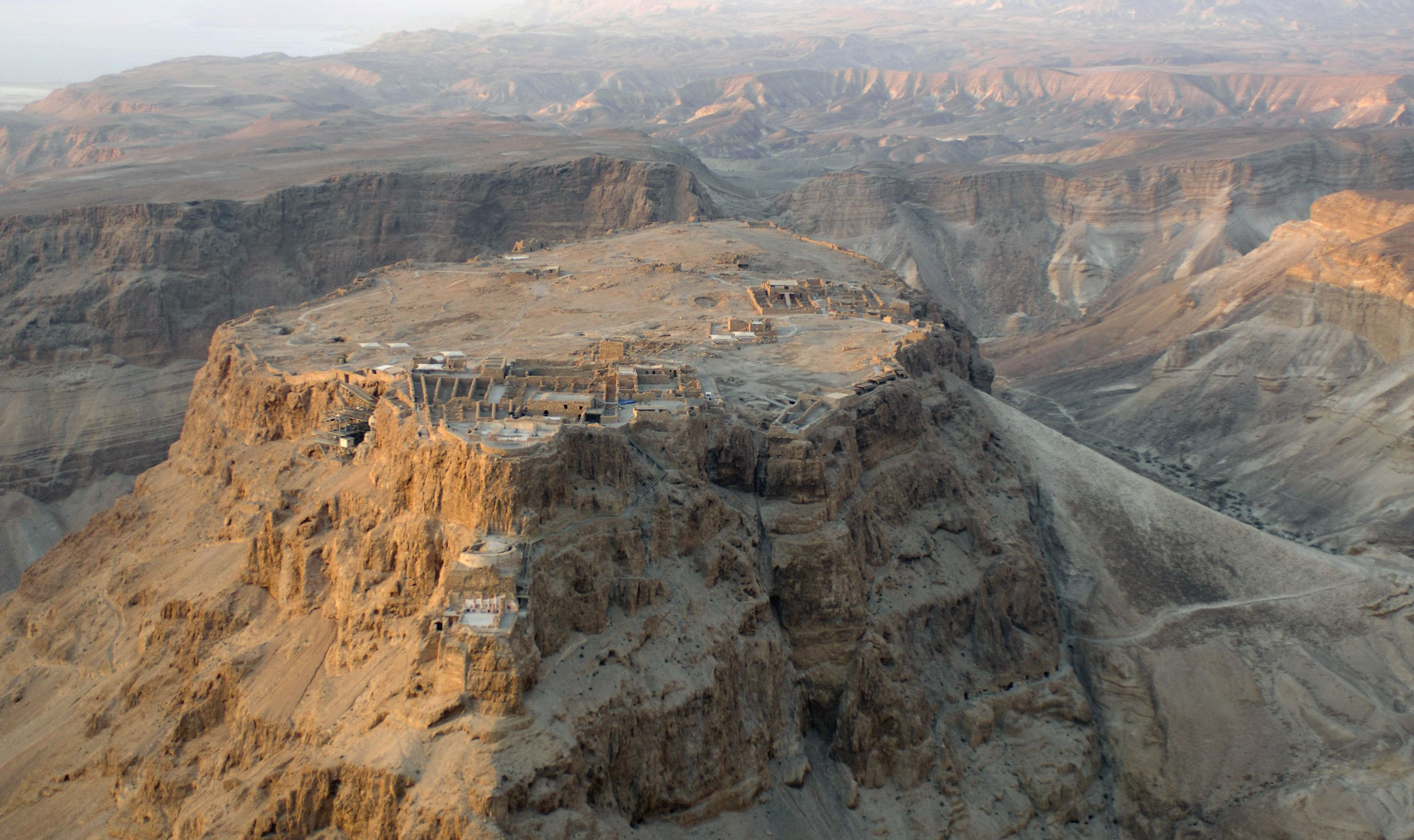 Masada, the ancient Israeli fortress overlooking the Dead Sea.