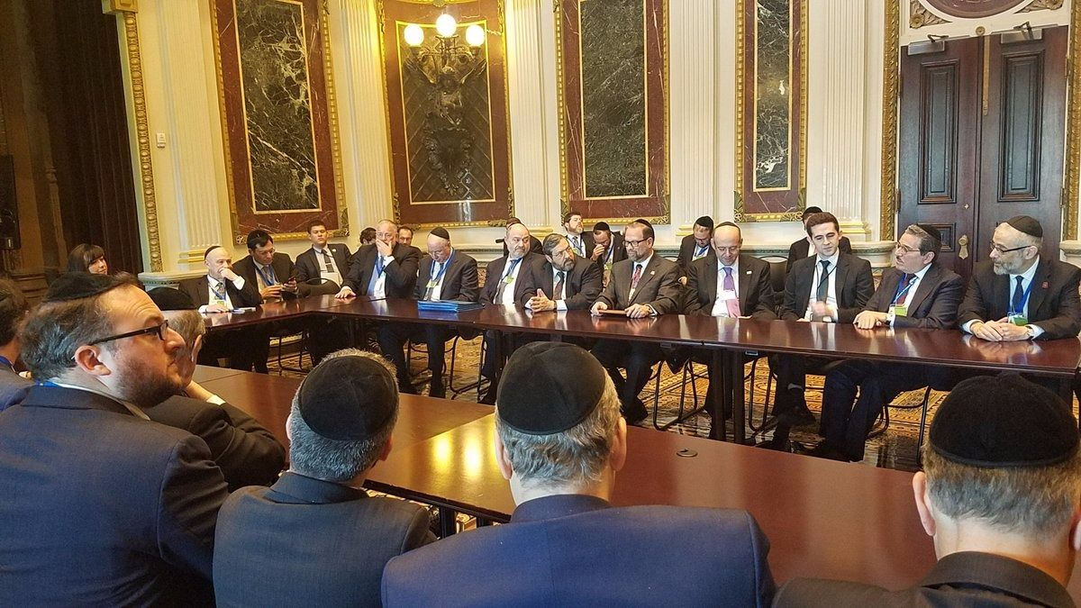 Agudath Israel board members at the White House