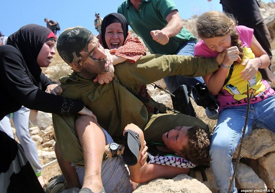 Image result for ahed tamimi hitting