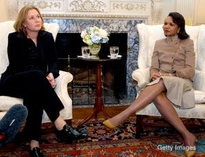 Common Ground: Israeli Foreign Minister Tzipi Livni met with Secretary of State Condoleezza Rice on March 10 in Washington.