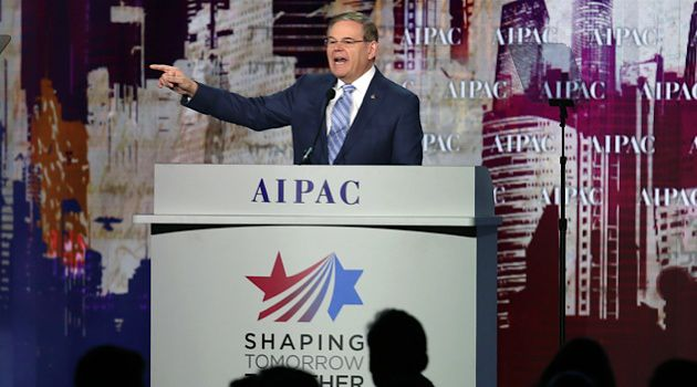 Senator Robert Menendez Speaks at a recent AIPAC conference.