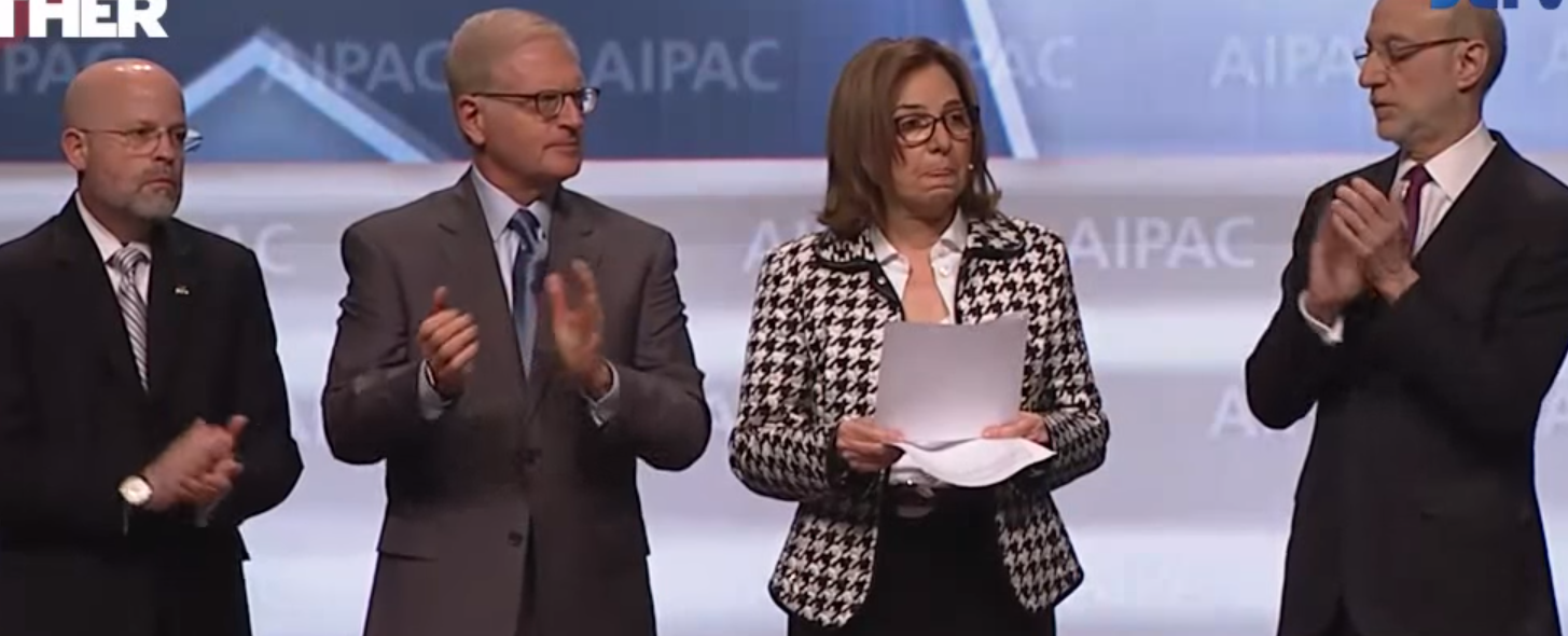 AIPAC president Lillian Pinkus.