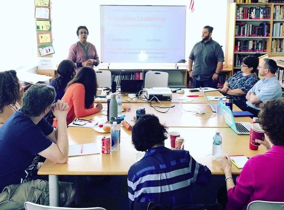 Akiba-Schechter Jewish Day School faculty participate in the R&D training program.