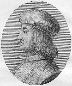 The Father of Italics: Printer Aldus Manutius seems pleased with his work.