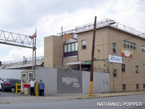 The entrance to the Alle Processing plant in Queens