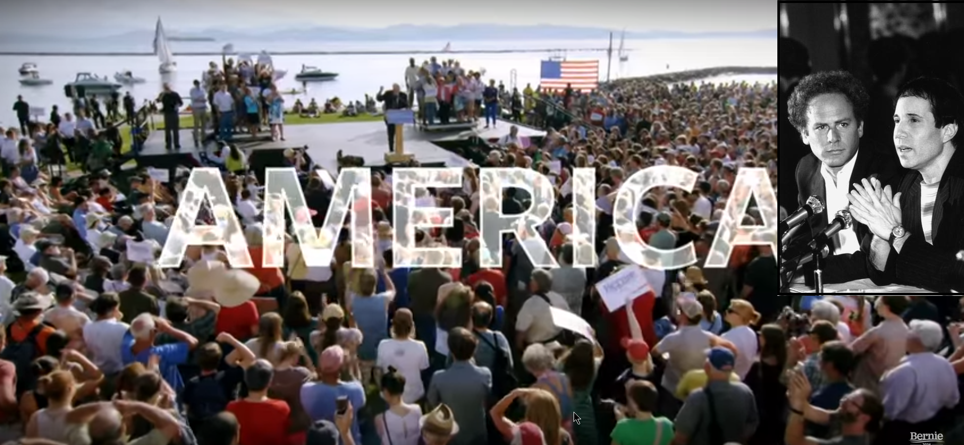 "Simon & Garfunkel have let the Bernie Sanders campaign use their song ""America"" in new political video."