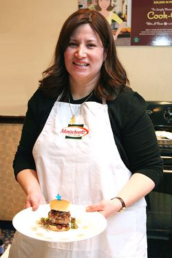 Delectable: Amy Siegel won the Manischewitz Cook-Off competition last year for her falafel sliders.