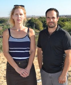 Advocating Diplomacy:  Anat Heffetz and Ori Ophir are members of Movement for the Future of the Western Negev.