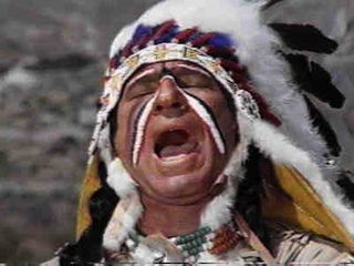 Mel Brooks as a Native American Yiddish speaker.