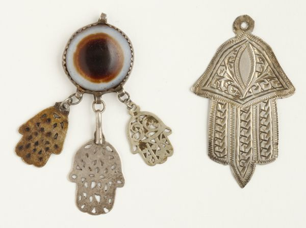 Khamsa with depiction of eye. From Morocco, 1935