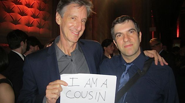 I'm With Jacobs: Humorist Andy Borowitz poses with his cousin, A.J. Jacobs.