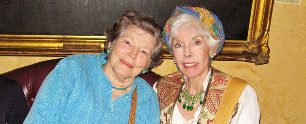 At a Gala: Anne Jackson (left) and Betsy von Furstenberg